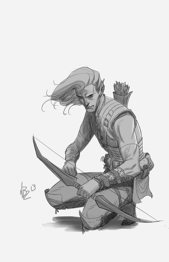 Elf Bowman by NelsonBlakeII