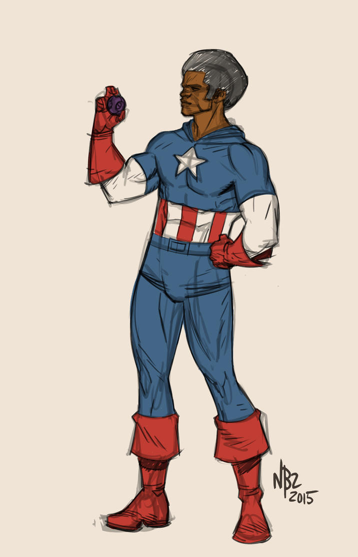 Warmup Captain America Warmup by NelsonBlakeII