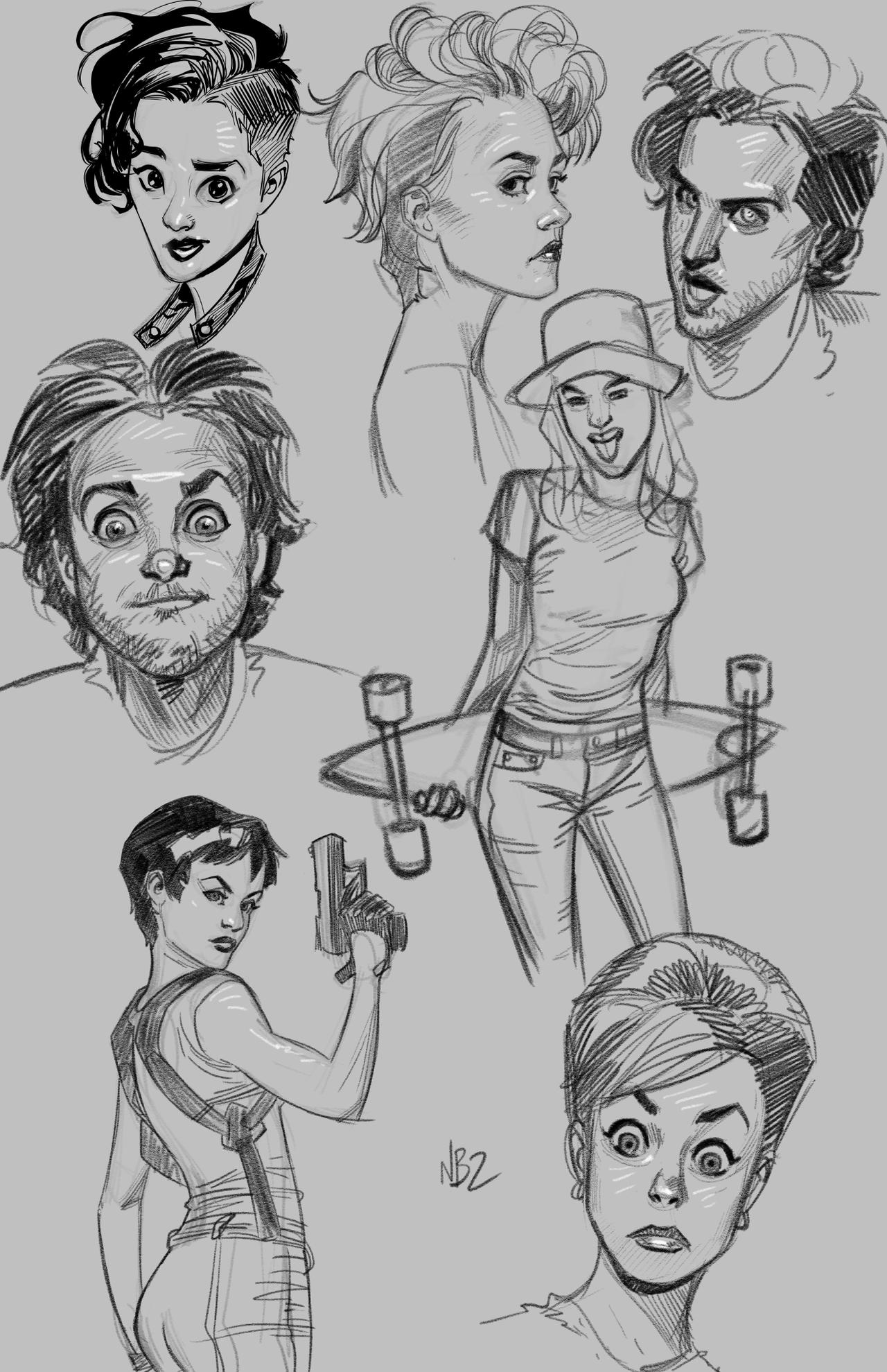 Warm up Sketches April 7th