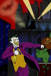 The Joker robs Gotham Federal Bank
