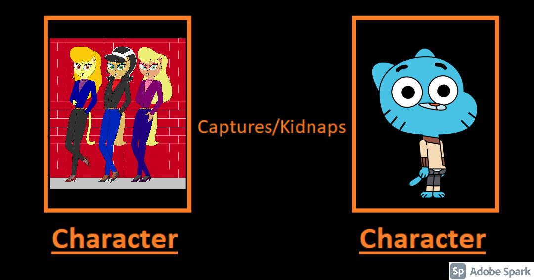 Katty, Callie and Cleo Kidnaps Gumball