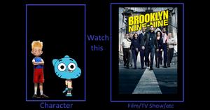 Lewis and Gumball Watch Brooklyn Nine-Nine