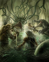 Swamp of the Hydrae: Heroes' Tears by razwit