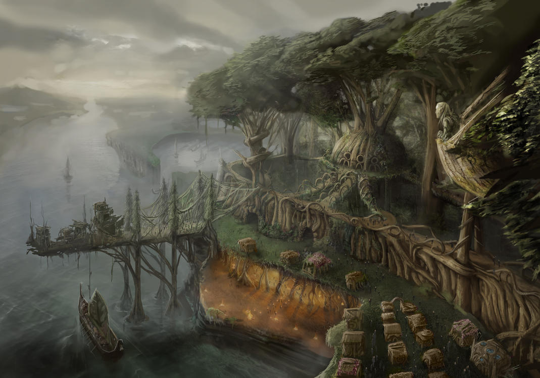 Heroes' Tears: The Elf Fortress by razwit