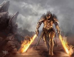 Fire Knight by razwit