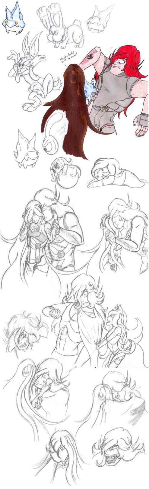 doodles by sparkyspawnoffire