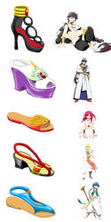 Magi the labyrinth of magic - Shoes design by Pobepom