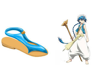Magi the labyrinth of magic Aladdin - Shoe design by Pobepom