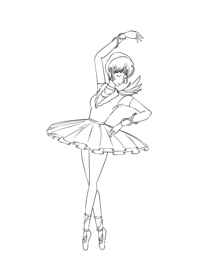 Line Art Digital : Ballerina digital line art by spicyookami on deviantart