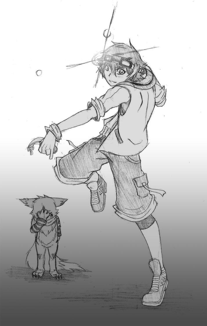 Yukito and Kibamon by Puli-wind