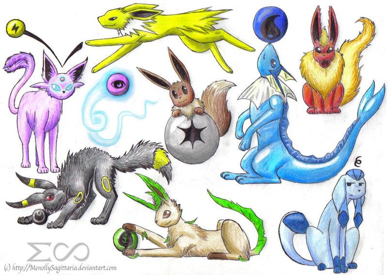 how to draw eevee evolutions