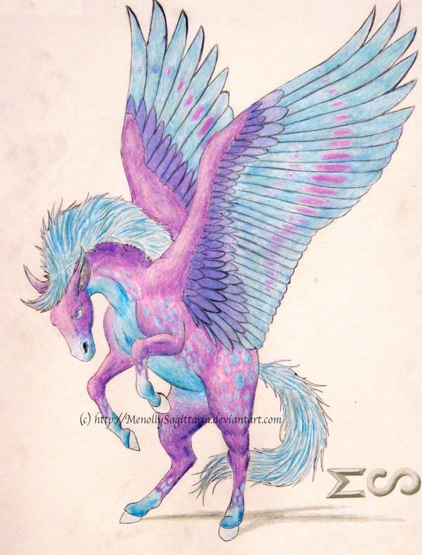 Pegasus Breed: Dapploosa by MenollySagittaria