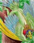 Iguana Parrot by MetellaStella