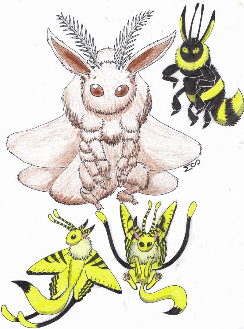 Bug Type Eevee by MenollySagittaria on DeviantArt