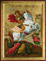 St. George on horse by logIcon