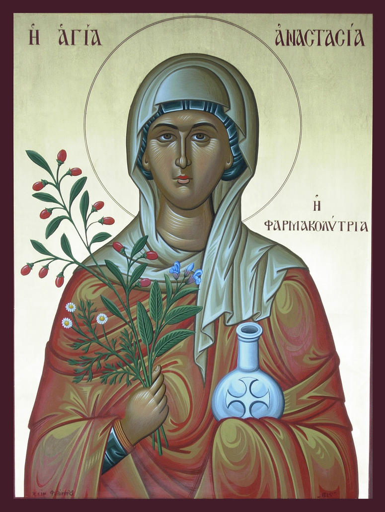 St. Anastasia of Sirmium (Farmakolytria) by logIcon