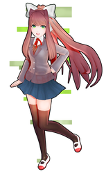 [MMD] DDLC Monika Model Edit
