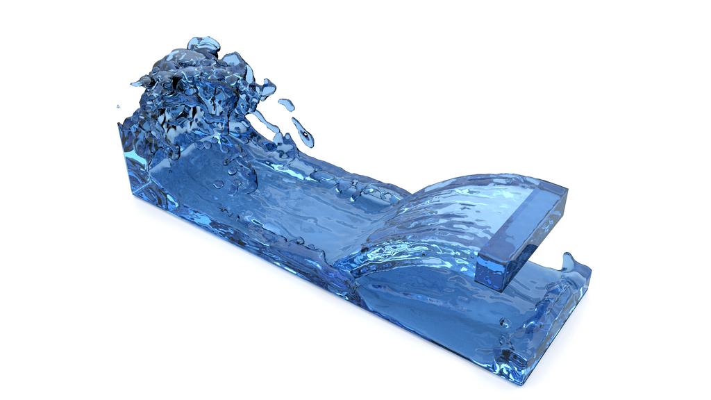 Blender water simulation test render #2 by sharkkk