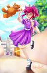 Annie goes to school