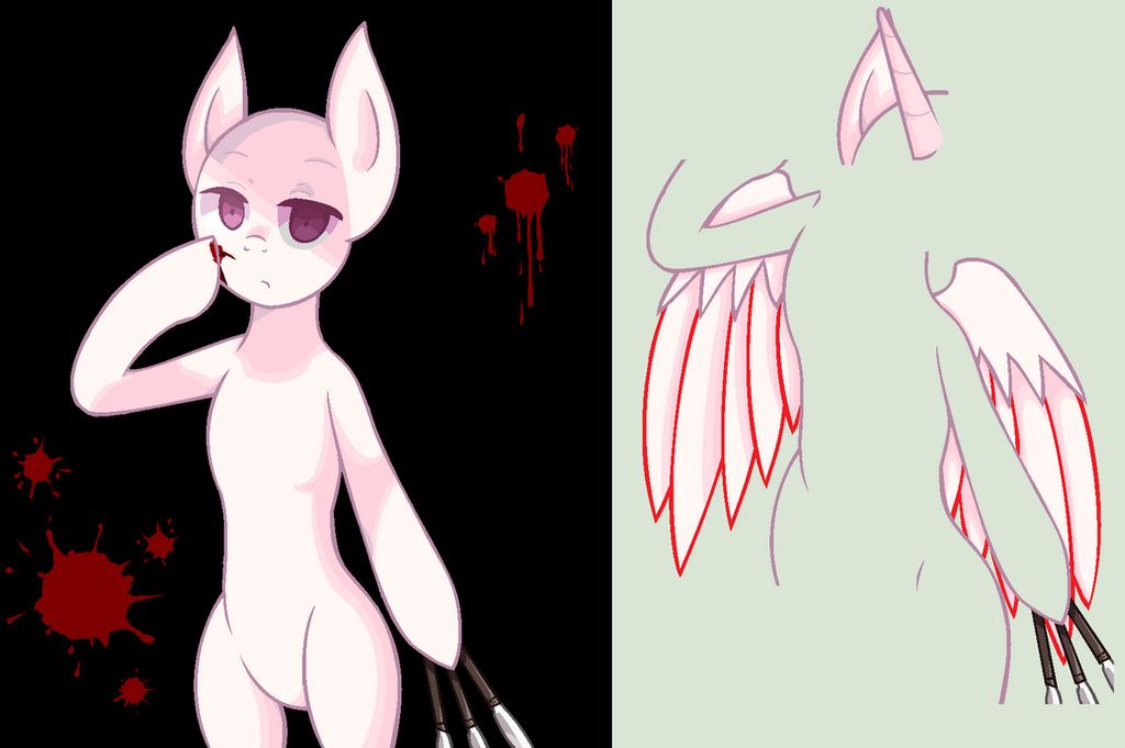 Pony With Knives Base (MS-Paint Friendly Version) By ZX