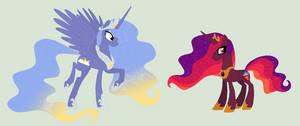 Princess Luna and Celestia [WMCMITM AU]