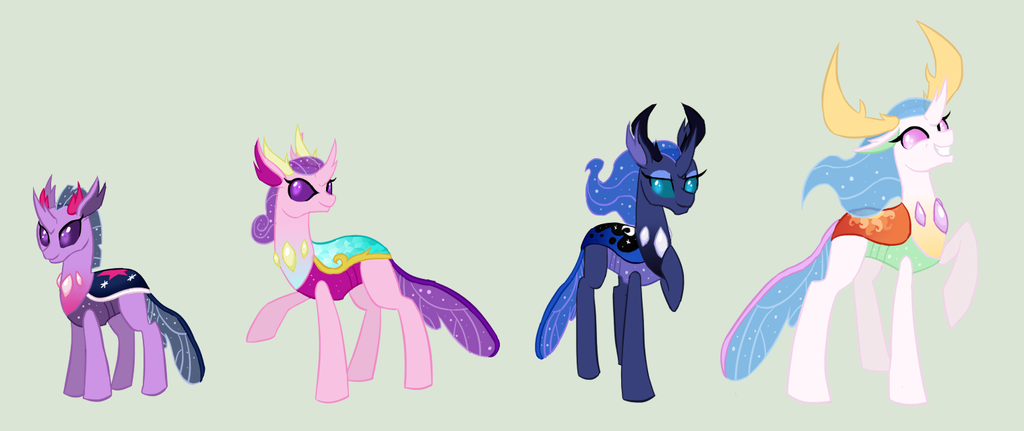 Princesses as Changelings by zX-ShadowLugia111-Xz