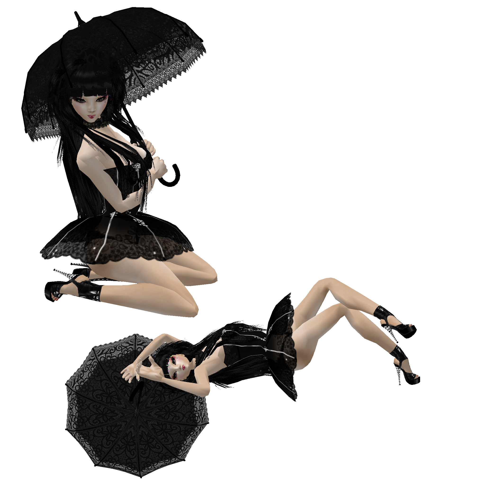 Ella Umbrella x 2 by CatonaBlade on DeviantArt