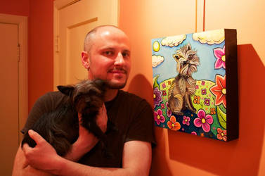 Biggs and his portrait by Catsbah