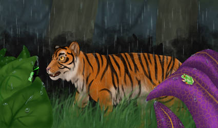 jungle rain by blinkifish13