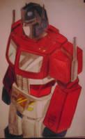 Autobot leader Optimus Prime by Allosauridae13