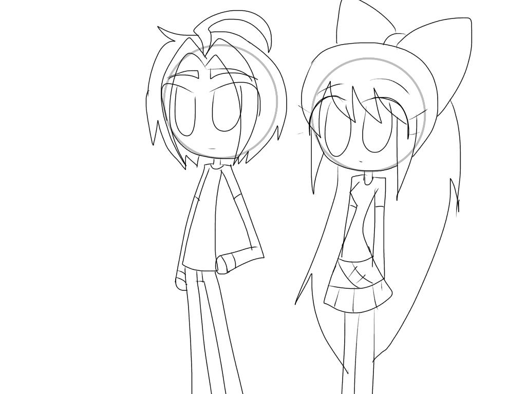 Bob and Ditzy without their vests((WIP)) by HooeySmarts333