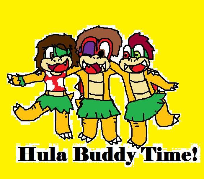 Hula Buddy Time by SonicUnbelieveable