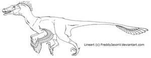 Velociraptor Lineart