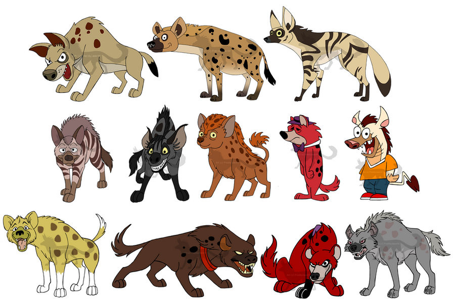 HYENAS by CrazyCrocuta