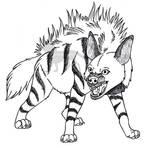 Startled Striped Hyaena
