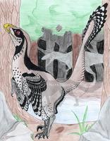 Deinonychus by InkHyaena