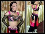Durga fusion Costume in Pink