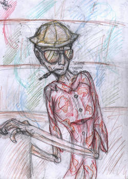 Under-drawing: Raoul Duke