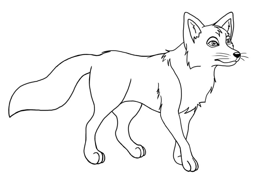 Line Drawing Fox : Fox lineart by misspadfoot on deviantart