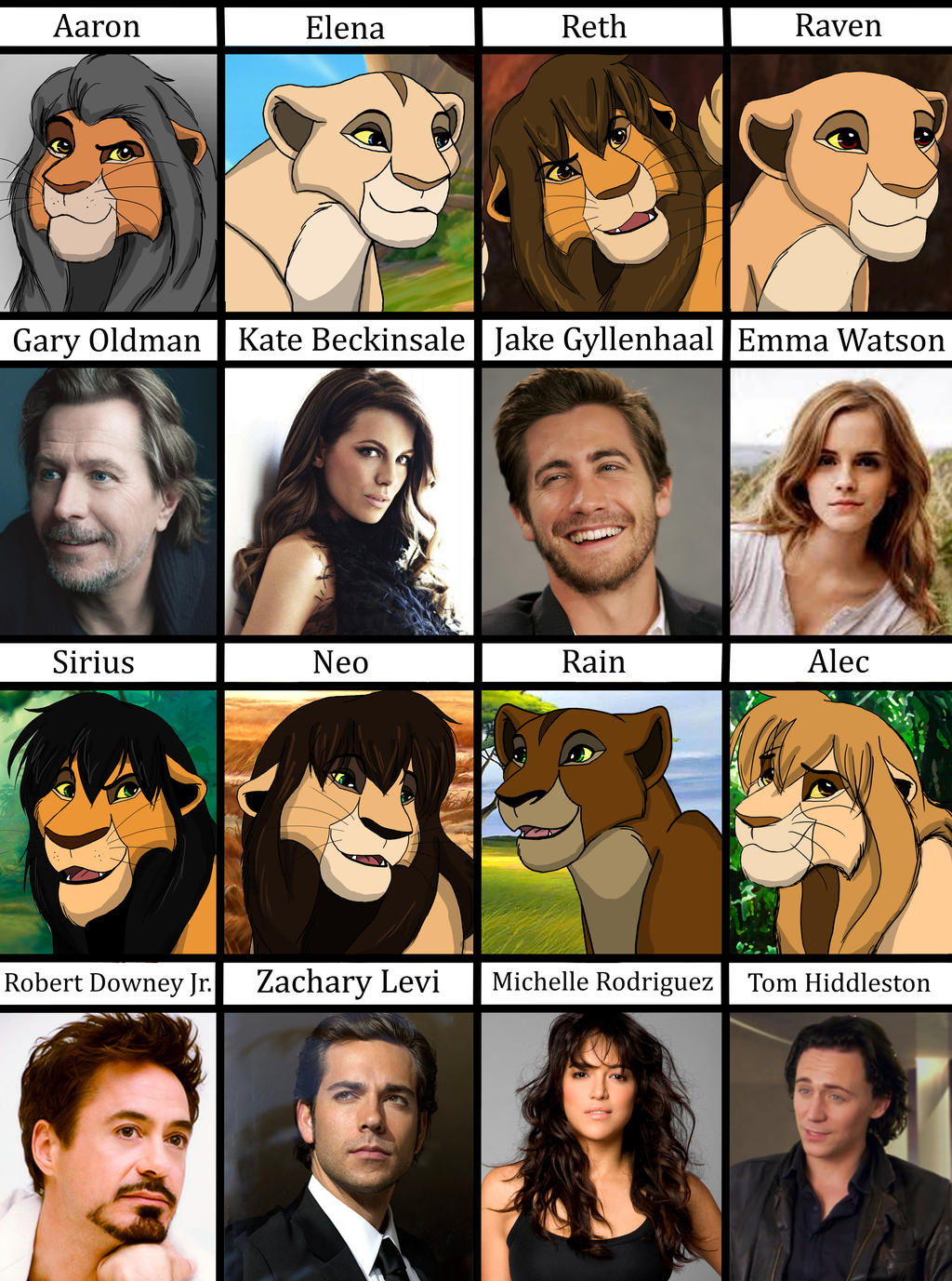 Image Gallery lion king characters voices