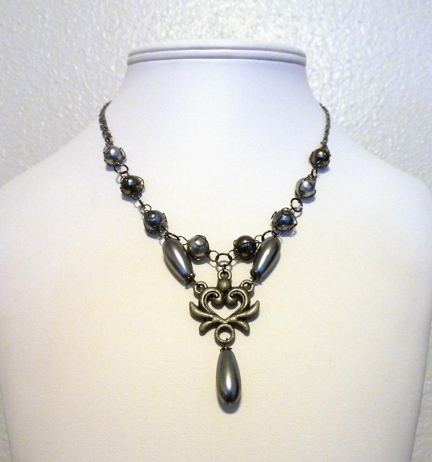 Grey Romance Necklace by Lincey