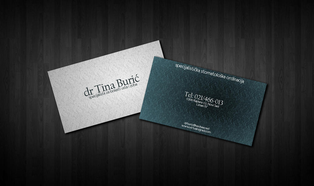 Dentist business card by tbubicans on DeviantArt