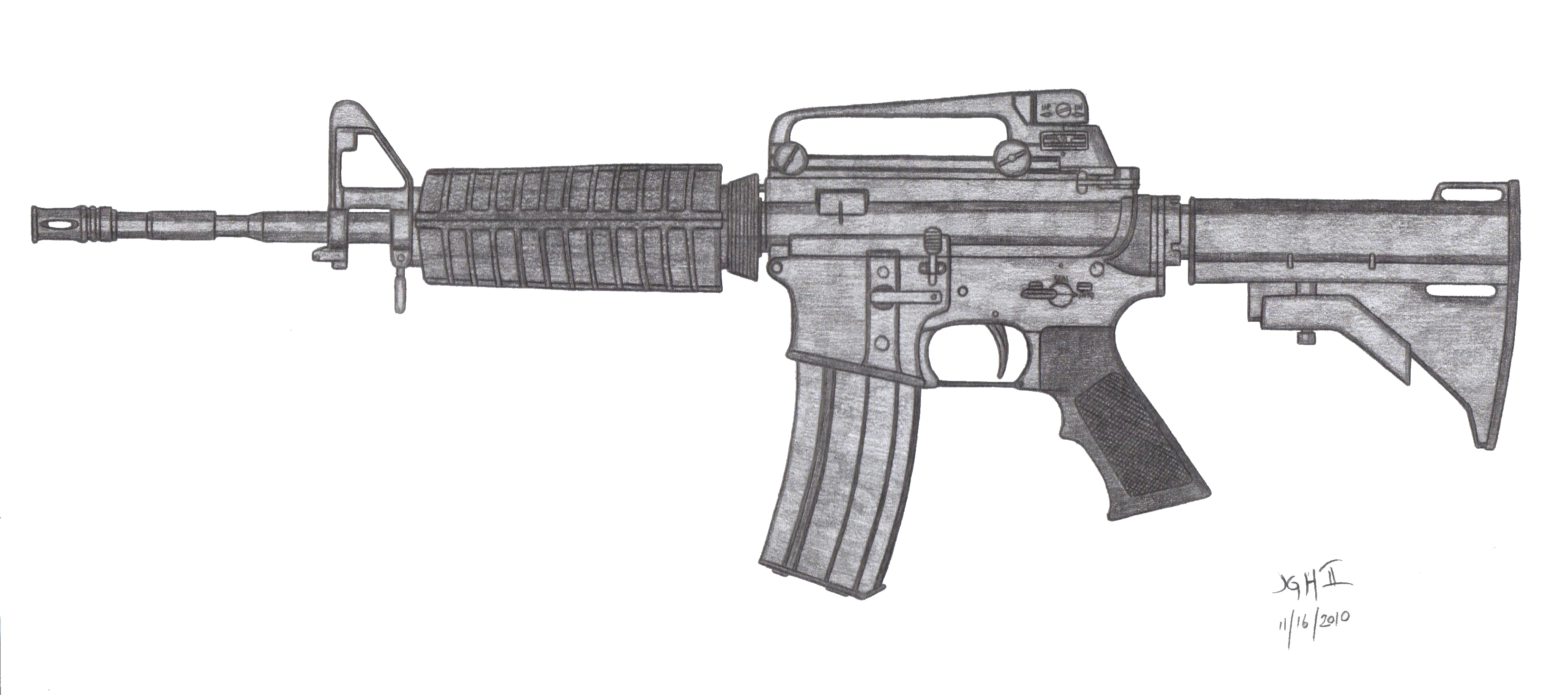 Colt M4A1 by CzechBiohazard M4a1 Outline
