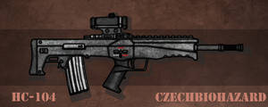 Fictional Firearm: HC-104 Assault Rifle
