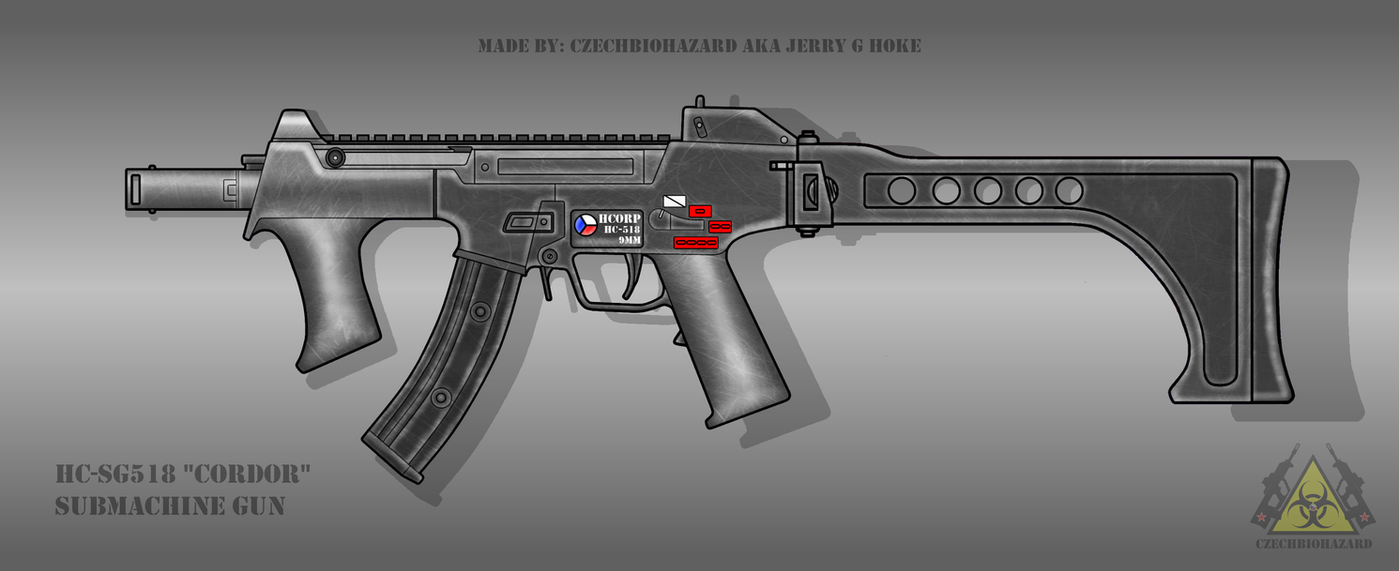 Fictional Firearm: HC-SG518 Submachine Gun by CzechBiohazard