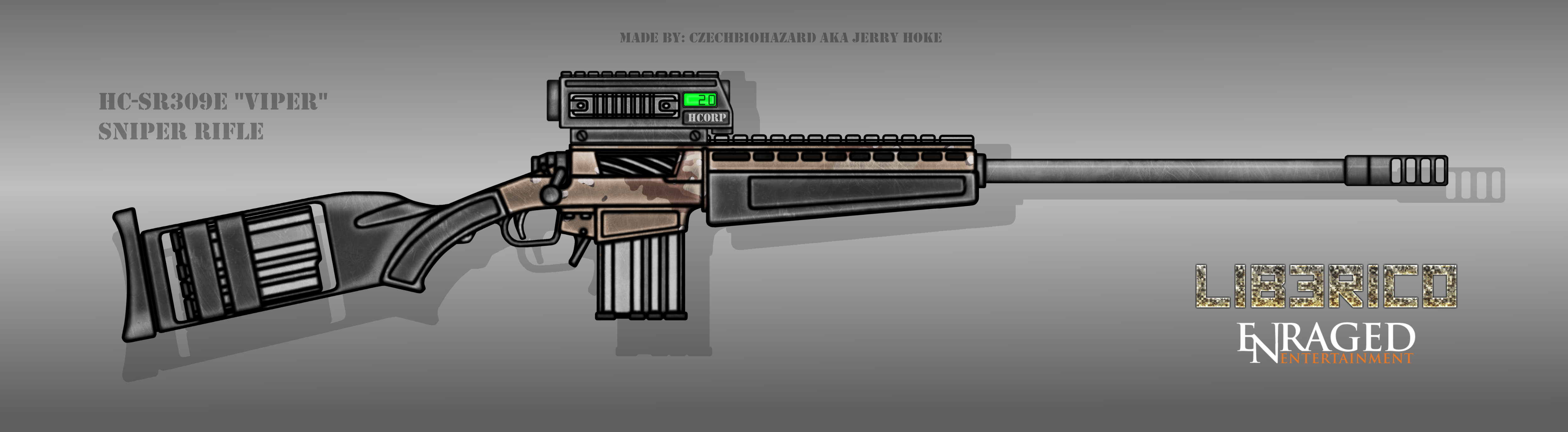 Fictional Firearm: HC-SR309E [Viper] Sniper Rifle by CzechBiohazard