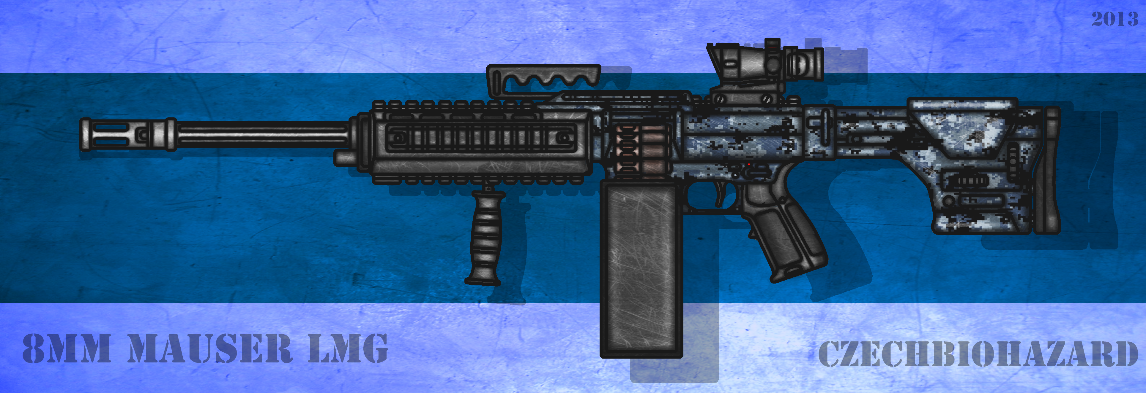 Fictional 8mm Mauser General Purpose Machine Gun by CzechBiohazard