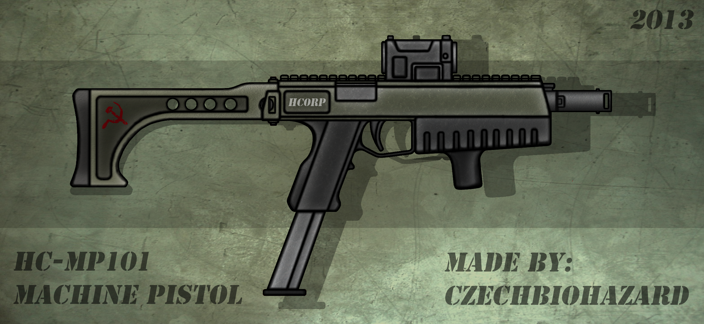 Fictional Firearm: HC-MP101 Machine Pistol by CzechBiohazard