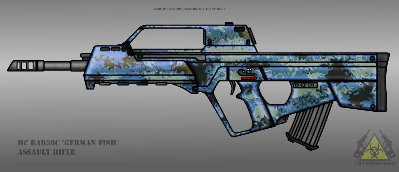 Fictional Firearm: HC-BAR36c [German Fish] by CzechBiohazard