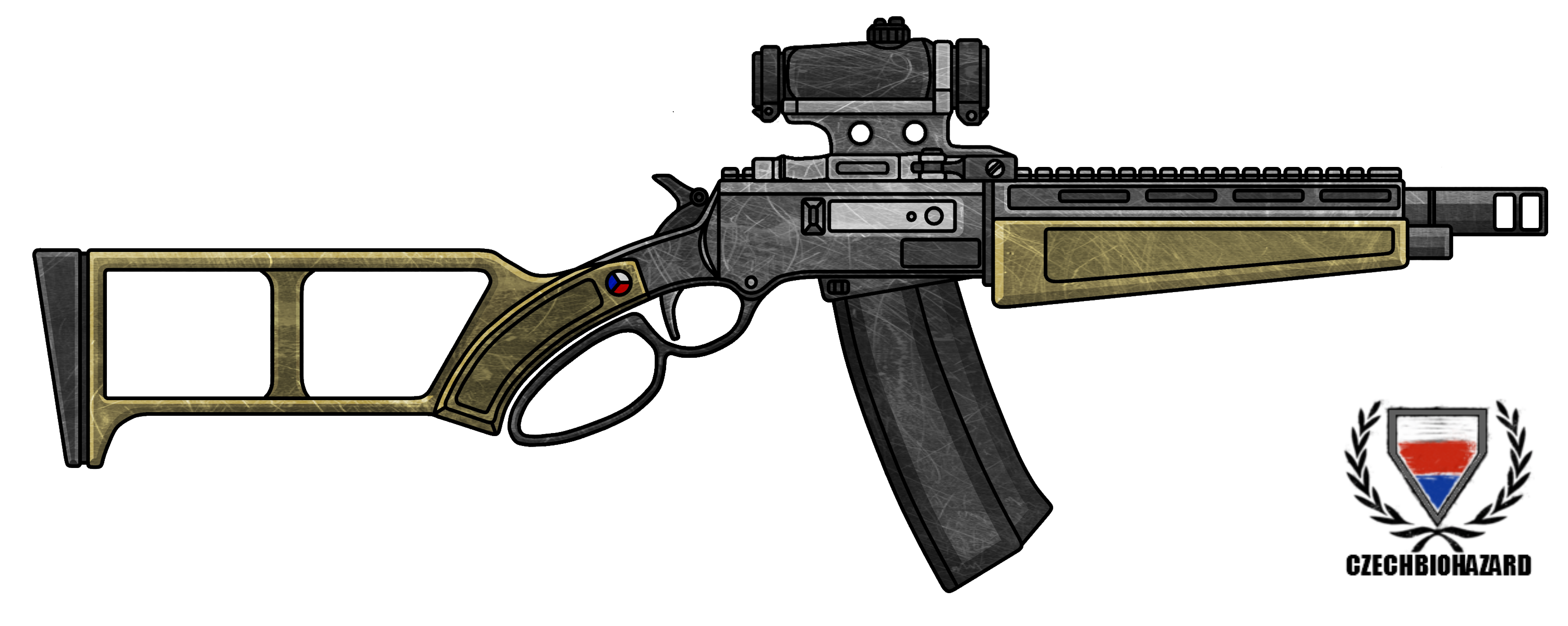 Fictional Firearm: HC-308 Lever-Action Rifle by CzechBiohazard